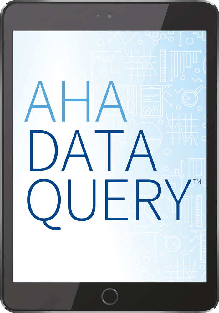 aha dataquery splash page on tablet